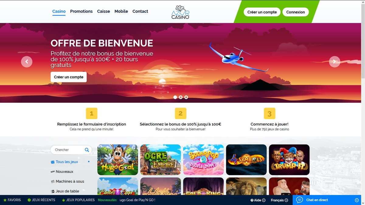 Avis Azur casino : est-ce une plateforme conseillée ?